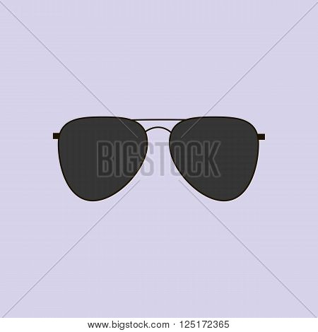 Aviator Glasses Icon. Sun Glasses. Vector illustration