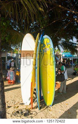 Surfboards At Kuta Beach, Bali, Indonesia
