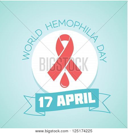 Calendar for each day on April 17. Holiday - World Hemophilia Day. Icon in the linear style