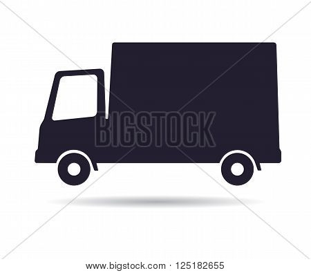 Delivery truck icon, vector illustration isolated on white