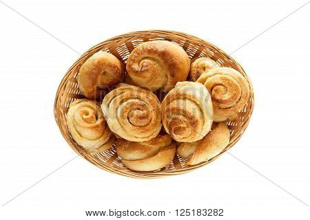 fresh sweet pastries on white background, isolated.