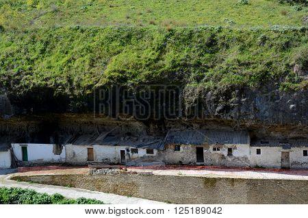 Old houses in Setenil de las Bodegas