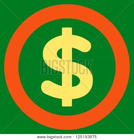 Finance vector icon. Finance icon symbol. Finance icon image. Finance icon picture. Finance pictogram. Flat orange and yellow finance icon. Isolated finance icon graphic. Finance icon illustration.