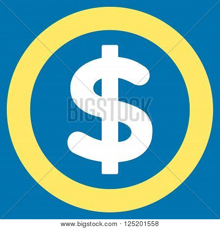 Finance vector icon. Finance icon symbol. Finance icon image. Finance icon picture. Finance pictogram. Flat yellow and white finance icon. Isolated finance icon graphic. Finance icon illustration.