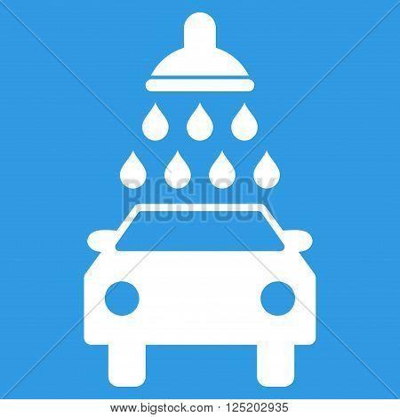 Car Wash vector icon. Car Wash icon symbol. Car Wash icon image. Car Wash icon picture. Car Wash pictogram. Flat white car wash icon. Isolated car wash icon graphic. Car Wash icon illustration.