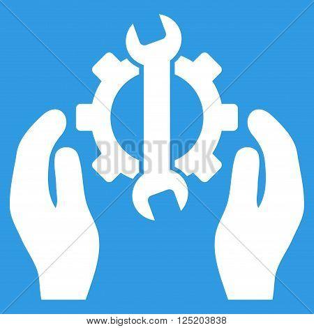 Repair Service vector icon. Repair Service icon symbol. Repair Service icon image. Repair Service icon picture. Repair Service pictogram. Flat white repair service icon.