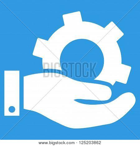 Service vector icon. Service icon symbol. Service icon image. Service icon picture. Service pictogram. Flat white service icon. Isolated service icon graphic. Service icon illustration.