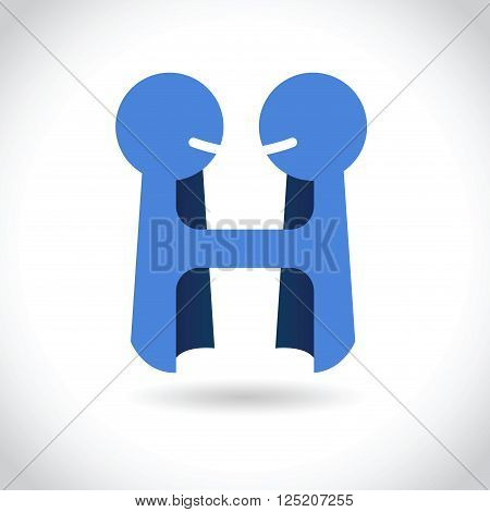 Vector stock logo template business agreement and partnership two people holding hands