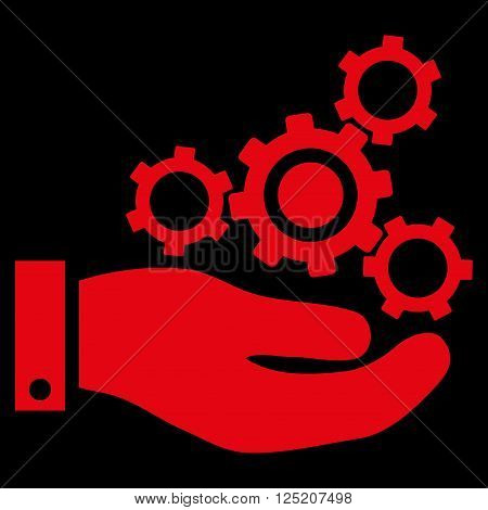 Mechanics Service vector icon. Mechanics Service icon symbol. Mechanics Service icon image. Mechanics Service icon picture. Mechanics Service pictogram. Flat red mechanics service icon.