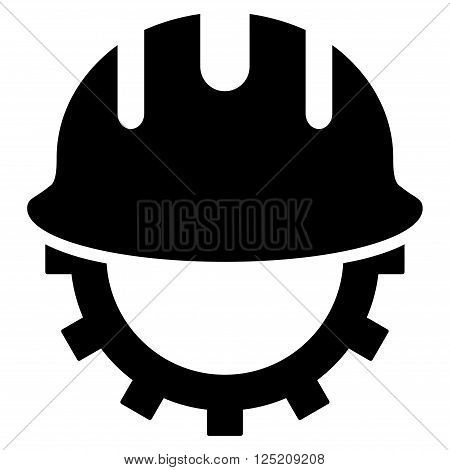 Development Hardhat vector icon. Development Hardhat icon symbol. Development Hardhat icon image. Development Hardhat icon picture. Development Hardhat pictogram. Flat black development hardhat icon.
