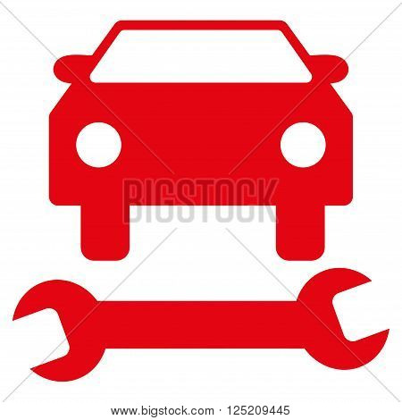 Car Repair vector icon. Car Repair icon symbol. Car Repair icon image. Car Repair icon picture. Car Repair pictogram. Flat red car repair icon. Isolated car repair icon graphic.