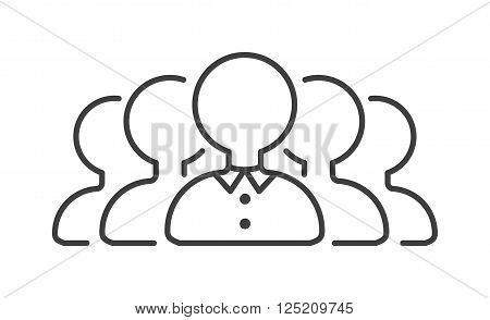 Togetherness icon friendship business and silhouette partnership togetherness icon. Person company cooperation. Community team friendship togetherness icon teamwork social group concept line vector.