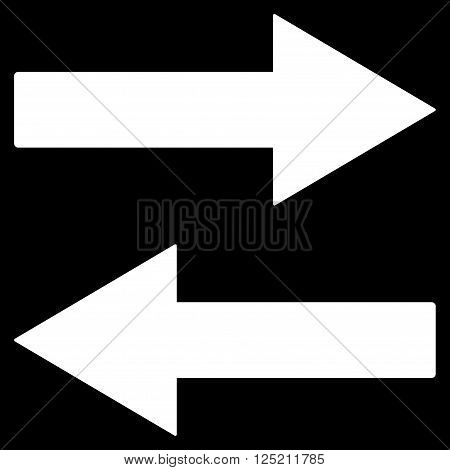 Horizontal Flip Arrows vector icon. Horizontal Flip Arrows icon symbol. Horizontal Flip Arrows icon image. Horizontal Flip Arrows icon picture. Horizontal Flip Arrows pictogram.