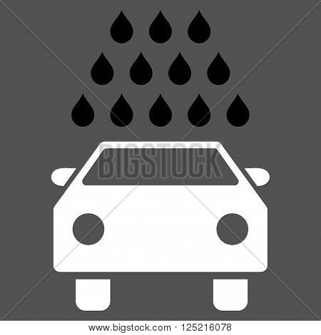 Car Wash vector icon. Car Wash icon symbol. Car Wash icon image. Car Wash icon picture. Car Wash pictogram. Flat black and white car wash icon. Isolated car wash icon graphic.