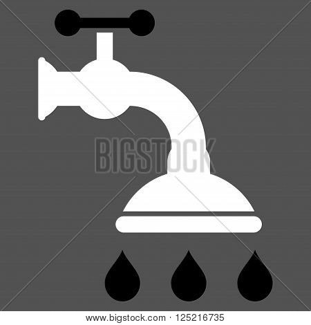 Shower Tap vector icon. Shower Tap icon symbol. Shower Tap icon image. Shower Tap icon picture. Shower Tap pictogram. Flat black and white shower tap icon. Isolated shower tap icon graphic.