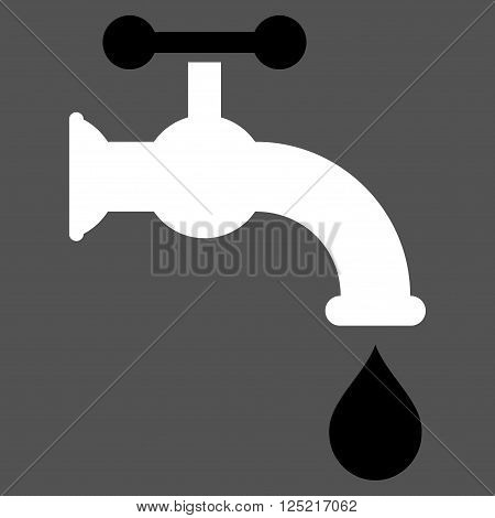 Water Tap vector icon. Water Tap icon symbol. Water Tap icon image. Water Tap icon picture. Water Tap pictogram. Flat black and white water tap icon. Isolated water tap icon graphic.