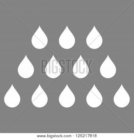 Drops vector icon. Drops icon symbol. Drops icon image. Drops icon picture. Drops pictogram. Flat white drops icon. Isolated drops icon graphic. Drops icon illustration.