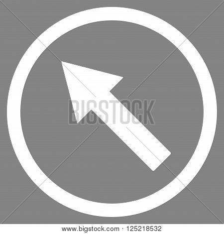 Up-Left Rounded Arrow vector icon. Up-Left Rounded Arrow icon symbol. Up-Left Rounded Arrow icon image. Up-Left Rounded Arrow icon picture. Up-Left Rounded Arrow pictogram.