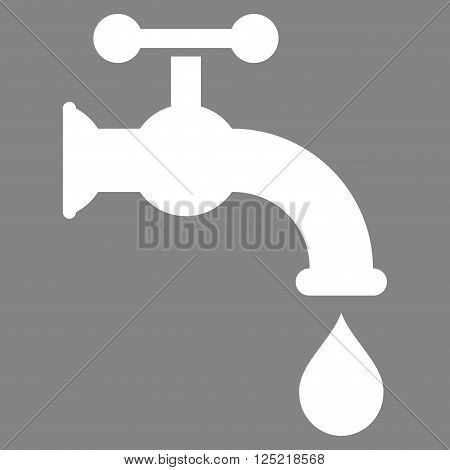Water Tap vector icon. Water Tap icon symbol. Water Tap icon image. Water Tap icon picture. Water Tap pictogram. Flat white water tap icon. Isolated water tap icon graphic.