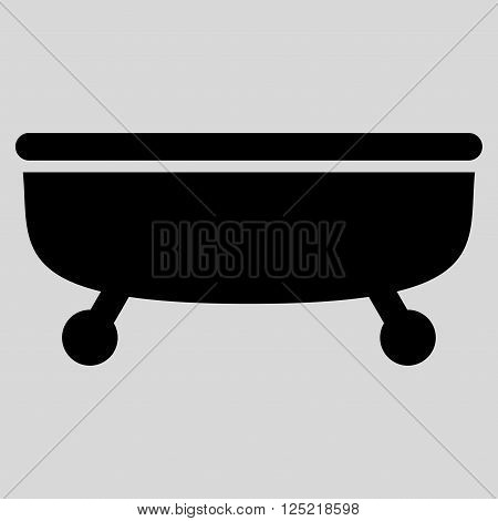 Bathtub vector icon. Bathtub icon symbol. Bathtub icon image. Bathtub icon picture. Bathtub pictogram. Flat black Bathtub icon. Isolated Bathtub icon graphic. Bathtub icon illustration.