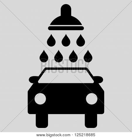 Car Wash vector icon. Car Wash icon symbol. Car Wash icon image. Car Wash icon picture. Car Wash pictogram. Flat black car wash icon. Isolated car wash icon graphic. Car Wash icon illustration.