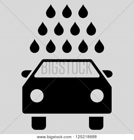 Car Wash vector icon. Car Wash icon symbol. Car Wash icon image. Car Wash icon picture. Car Wash pictogram. Flat black car wash icon. Isolated car wash icon graphic. Car Wash icon illustration.