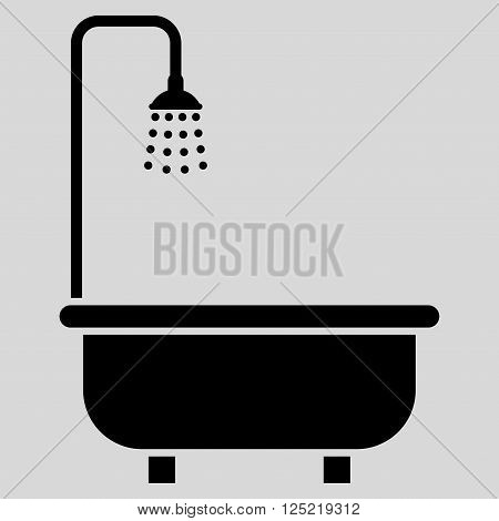 Shower Bath vector icon. Shower Bath icon symbol. Shower Bath icon image. Shower Bath icon picture. Shower Bath pictogram. Flat black shower bath icon. Isolated shower bath icon graphic.