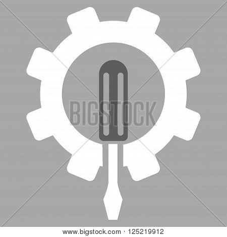 Engineering vector icon. Engineering icon symbol. Engineering icon image. Engineering icon picture. Engineering pictogram. Flat dark gray and white engineering icon. Isolated engineering icon graphic.