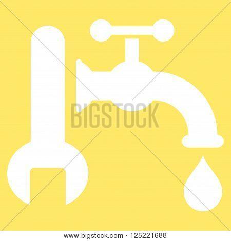 Plumbing vector icon. Plumbing icon symbol. Plumbing icon image. Plumbing icon picture. Plumbing pictogram. Flat white plumbing icon. Isolated plumbing icon graphic. Plumbing icon illustration.