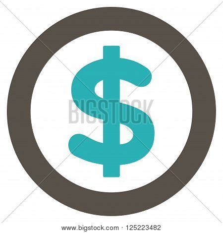 Finance vector icon. Finance icon symbol. Finance icon image. Finance icon picture. Finance pictogram. Flat grey and cyan finance icon. Isolated finance icon graphic. Finance icon illustration.