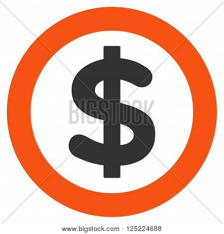 Finance vector icon. Finance icon symbol. Finance icon image. Finance icon picture. Finance pictogram. Flat orange and gray finance icon. Isolated finance icon graphic. Finance icon illustration.