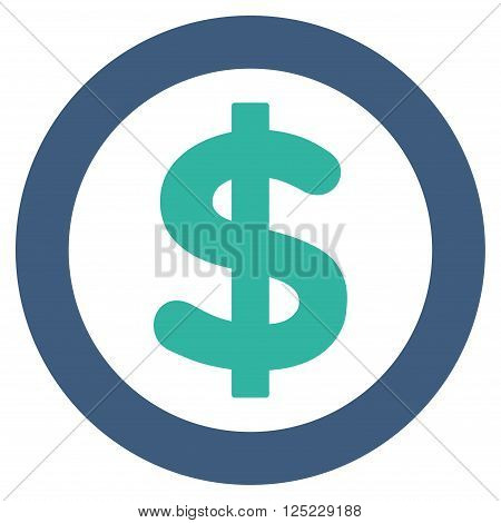 Finance vector icon. Finance icon symbol. Finance icon image. Finance icon picture. Finance pictogram. Flat cobalt and cyan finance icon. Isolated finance icon graphic. Finance icon illustration.