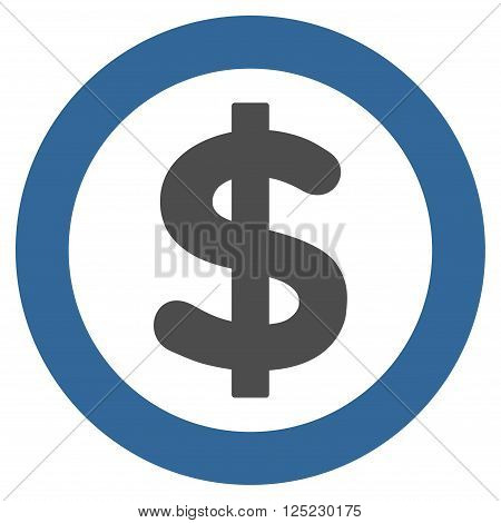 Finance vector icon. Finance icon symbol. Finance icon image. Finance icon picture. Finance pictogram. Flat cobalt and gray finance icon. Isolated finance icon graphic. Finance icon illustration.