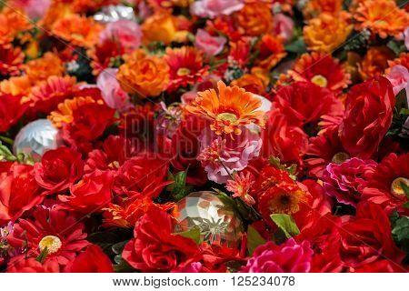 Zinnias - a large array, artificial korea spring flowers