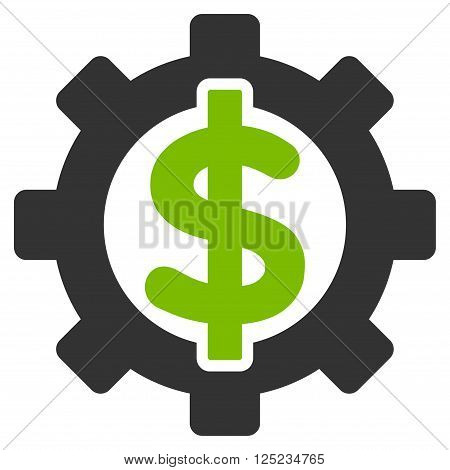 Financial Options vector icon. Financial Options icon symbol. Financial Options icon image. Financial Options icon picture. Financial Options pictogram. Flat eco green and gray financial options icon.