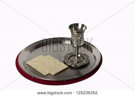 cup with a tray and thin loaves