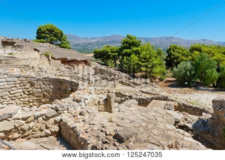 Archaeological site of Phaistos. Crete Greece Eorope