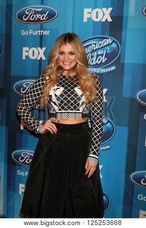 LOS ANGELES - APR 7:  Lauren Alaina at the American Idol FINALE Arrivals at the Dolby Theater on April 7, 2016 in Los Angeles, CA