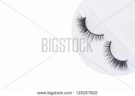 Isolated Beautiful Artificial Premium Eyelash For Female