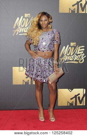 LOS ANGELES - APR 9:  Egypt Criss at the 2016 MTV Movie Awards Arrivals at the Warner Brothers Studio on April 9, 2016 in Burbank, CA
