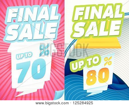 Final sale banners. Final Sale Banner Templates. Abstract Modern Banners