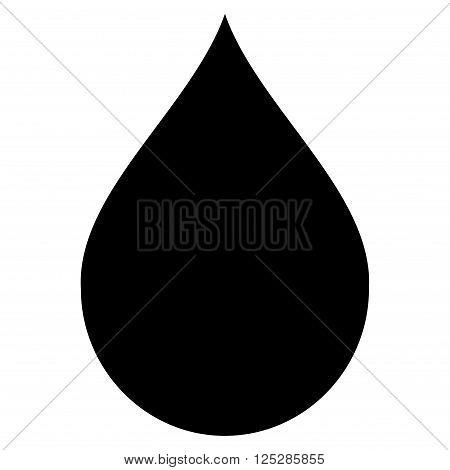 Drop vector icon. Drop icon symbol. Drop icon image. Drop icon picture. Drop pictogram. Flat black drop icon. Isolated drop icon graphic. Drop icon illustration.