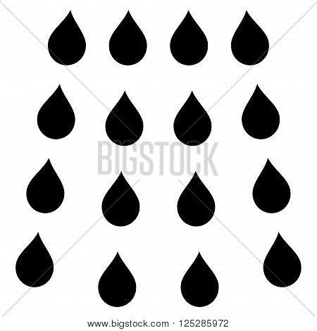 Drops vector icon. Drops icon symbol. Drops icon image. Drops icon picture. Drops pictogram. Flat black drops icon. Isolated drops icon graphic. Drops icon illustration.