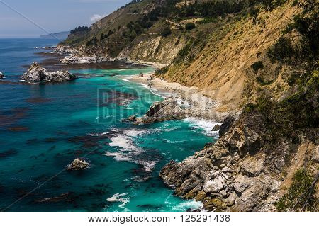 Beautiful Western Usa Coastline
