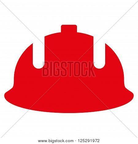 Construction Helmet vector icon. Construction Helmet icon symbol. Construction Helmet icon image. Construction Helmet icon picture. Construction Helmet pictogram.