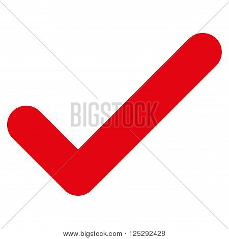Ok vector icon. Ok icon symbol. Ok icon image. Ok icon picture. Ok pictogram. Flat intensive red ok icon. Isolated ok icon graphic. Ok icon illustration.