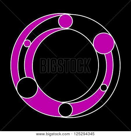 Fictitious symbol like a eternity symbol based on Yin Yang symbolism