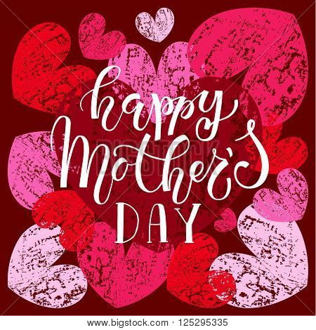 Happy Mother's Day Lettering Typography Poster