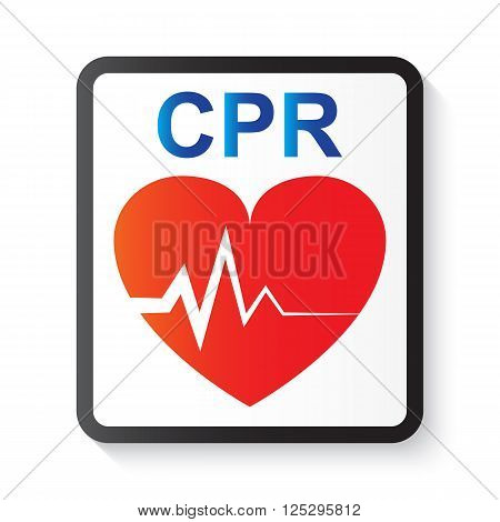 CPR ( cardiopulmonary resuscitation ) heart and ECG ( Electrocardiogram ) ( image for basic life support and advanced cardiac life support )