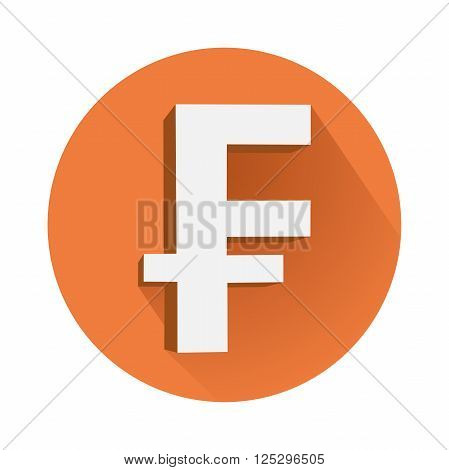This is an illustration of franc symbol
